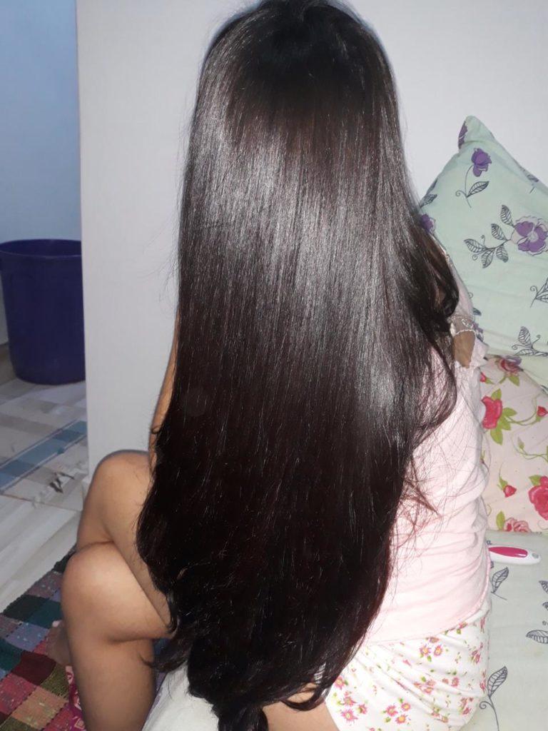 along hair