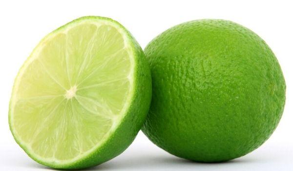 máscara com limão