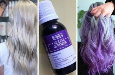 Violeta genciana no cabelo!